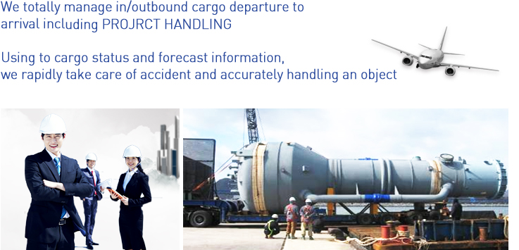 We totally manage in/outbound cargo departure to 